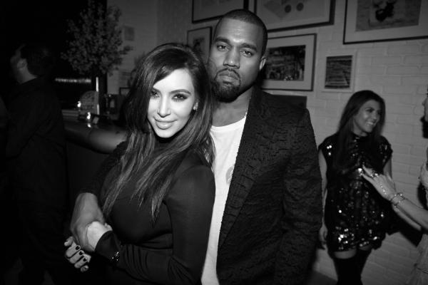 28 Kim Kardashian et Kanye West en direction de la soirée Dom Perrignon
