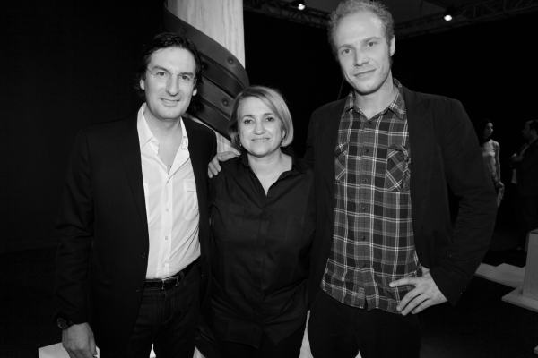 4 Pietro Beccari, PDG de Fendi, Silvia Fendi et L'artiste Marteen de Ceulaer