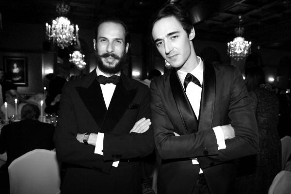 Alex Postiglione et  le designer Daniele Cavalli