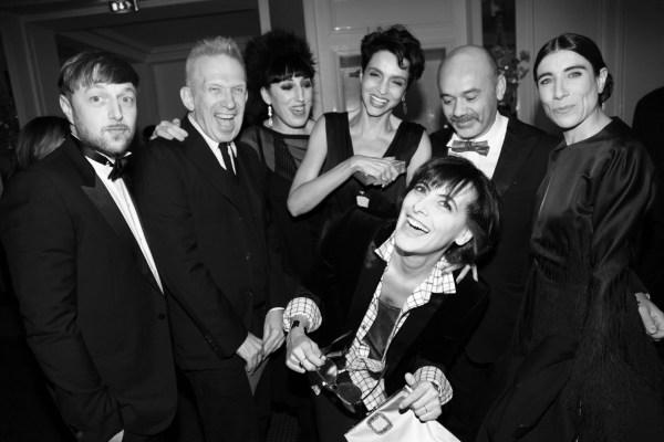 Cedric Charlier, Jean Paul Gaultier, Rossy de Palma Farida Khelfa, Christian Louboutin, Bianca Li et Ines de la Fressange (2)