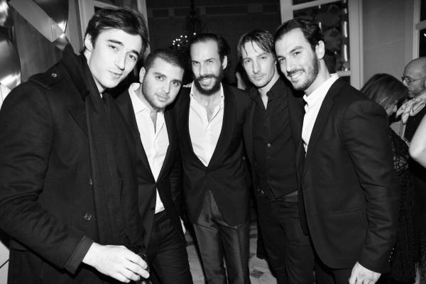 Daniele Cavalli, Elie Junior Saab, Alex Postiglione,Benn Northover et Francesco Francavilla