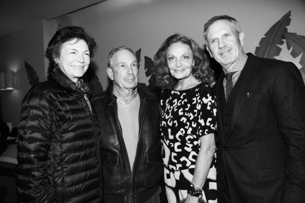 Diana Taylor le maire de NY Michael Bloomberg et Diane von Furstenberg