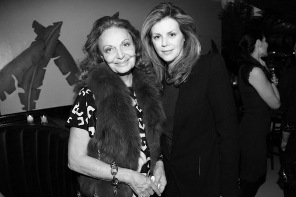 Diane von Furstenberg et  Virginie Mouzat