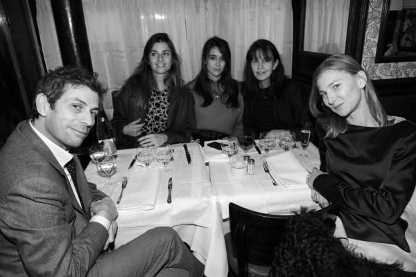 Frederic Tadei, Sonia Sieff, Natacha Ramsay Levi, Barbara Sieff et Elisabeth von Guttman