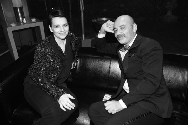 Juliette Binoche et Christian Louboutin