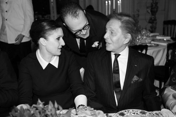 Maria Grazia Chiuri et Valentino Garavani