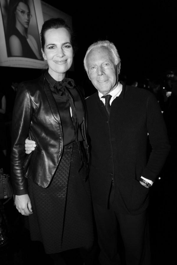 Roberta et Giorgio Armani
