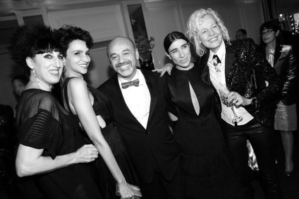 Rossy de Palma, Farida Khelfa, Christian Louboutin, Bianca Li et Ellen von Unwerth