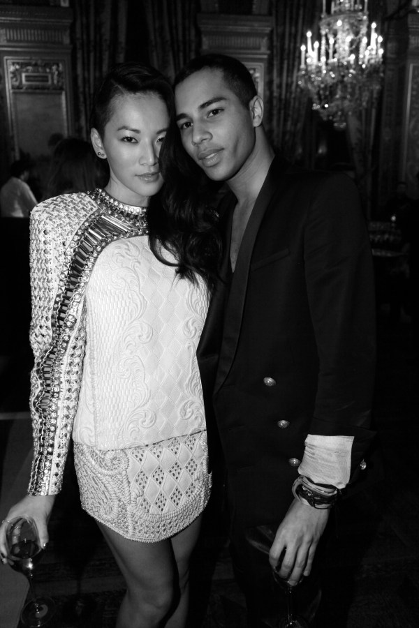 Tina Leung et Olivier Rousteing