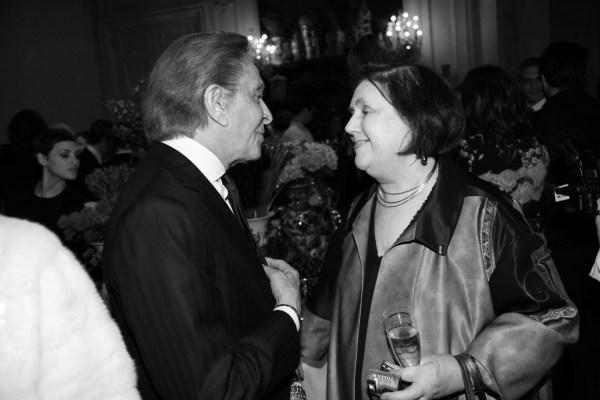 Valentino Garavani et Suzy Menkes