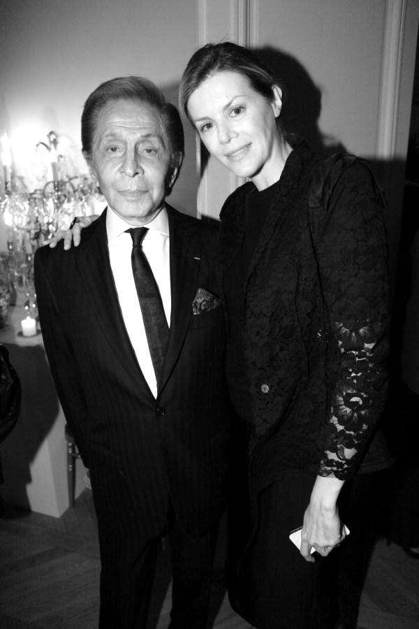 Valentino Garavani et Virginie Mouzar