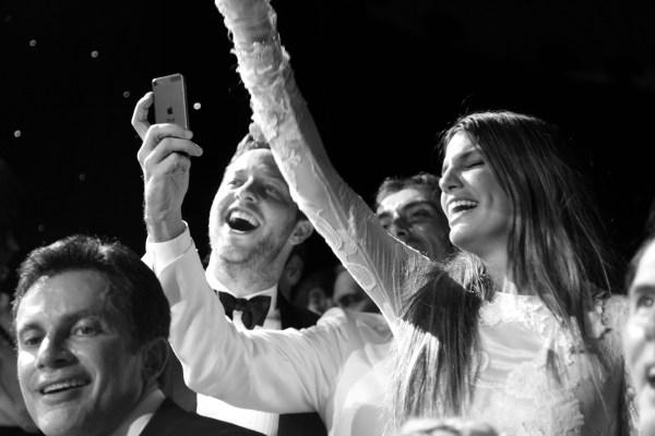 Derek Blasberg, Giambattista Valli et Bianca Brandolini durant le concert de Diana Ross
