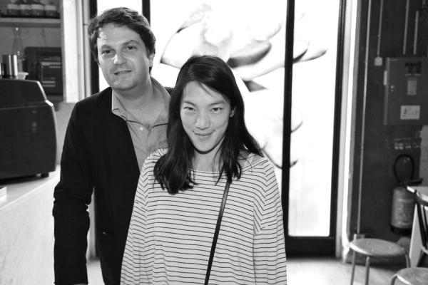 Jean Olivier Despres, directeur de la galerie Gagosian à Paris et Marie Peltier