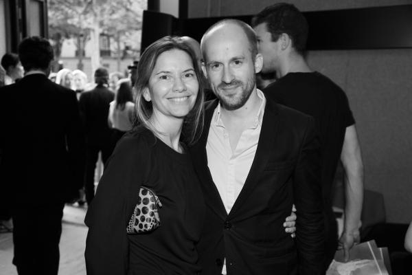 La directrice de la communication chez Berluti Isabella Capece et Mark Alizart