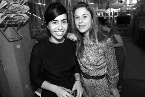 La directrice du Tokyo Art Club Myriam Ben Salah et Victoire de Pourtalès de la Galerie Thaddeus Ropac