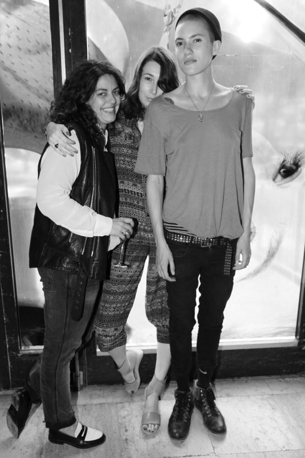 la journalisteJina Khayyer, la Styliste Camille Bidault Waddigton et le mannequin Tamy Glauser (2)