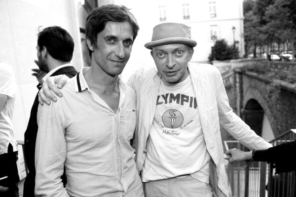 Le danseur etoile Benjamin Pech et le redacteur en chef de Beaux Arts Magazine Fabrice Bousteau