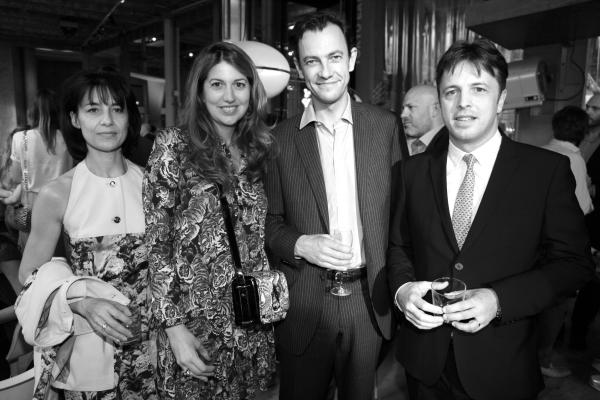 Michele Marechalle, la directrice de la communication France chez Kenzo Sophie Metzker, Pierre Yves Roussel Président-directeur général Division Mode - Groupe LVMH et Eric Marechalle PDG de Kenzo